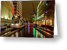Late Night Ride On The Metrorail Greeting Card