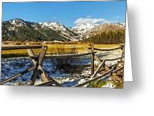 Late Spring Snow At Squaw Greeting Card