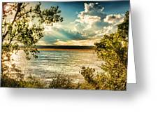 Late Summer Afternoon On The Mississippi Greeting Card