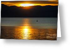 Late Summer Sunset Greeting Card