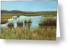 Late Sun On The Marsh Greeting Card