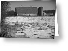 Late Winter At A Wisconsin Farm Greeting Card