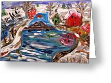Late Winter Canal-mary's View Greeting Card