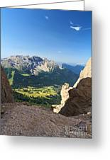 Latemar Mount From Vaiolon Pass Greeting Card