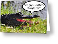 Later Alligator Greeting Card Greeting Card