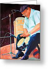 Latin Jazz Musician Greeting Card