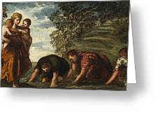 Latona Changing The Lycian Peasants Into Frogs Greeting Card