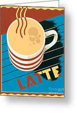 Latte Greeting Card