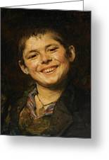 Laughing Boy Greeting Card