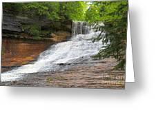 Laughing Whitefish Waterfall Greeting Card