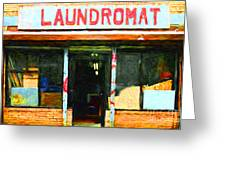 Laundromat 20130731pop Greeting Card by Wingsdomain Art and Photography