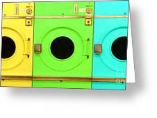 Laundromat Drying Machines Three 20130801 Greeting Card by Wingsdomain Art and Photography