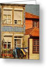 Laundry Day In Porto - Photo Greeting Card