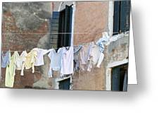 Laundry I Color Venice Italy Greeting Card
