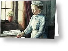 Laundry Maid Greeting Card by English School