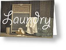 Laundry Room Sign Greeting Card