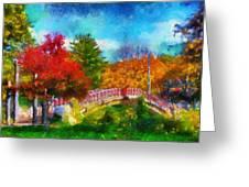 Laura Bradley Park 1922 Japanese Bridge 02 Greeting Card