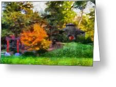Laura Bradley Park Japanese Garden 02 Greeting Card