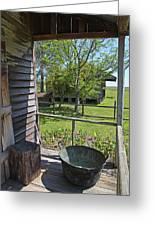 Laura Plantation Slaves Porch Greeting Card