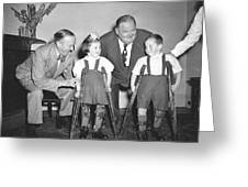 Laurel And Hardy In Ireland Greeting Card