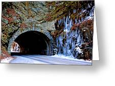 Laurel Creek Road Tunnel Greeting Card