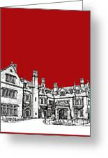 Laurel Hall In Red -portrait- Greeting Card
