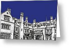 Laurel Hall In Royal Blue Greeting Card
