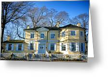 Laurel Hill Mansion Greeting Card by Olivier Le Queinec
