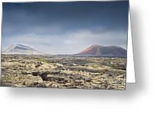 Lava Flows Lanzarote Greeting Card