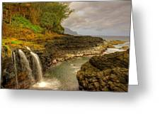 Lava Inlet Greeting Card