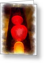 Lava Lamp Photo Art 04 Greeting Card