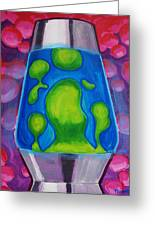 Lava Lamp Greeting Card