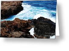Lava Rock On Aruban Coast Greeting Card