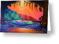 Lava Tube Fantasy Greeting Card