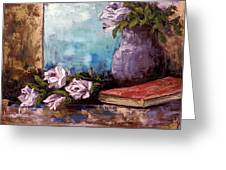 Lavendar Roses Greeting Card