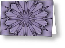 Lavender Abstract Flower Greeting Card