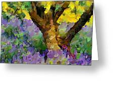 Lavender And Olive Tree Greeting Card