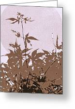 Lavender And Taupe Haiku Greeting Card