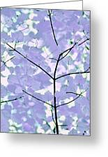 Lavender Blues Leaves Melody Greeting Card