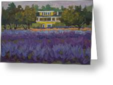 Lavender Farm On Vashon Island Greeting Card