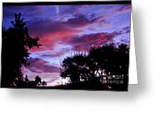 Lavender Pink And Blue Sunrise Greeting Card