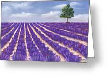 Lavender Season Greeting Card