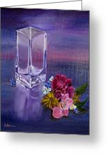 Lavender Vase Greeting Card