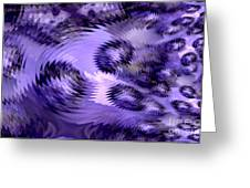 Lavender Water Abstract Greeting Card