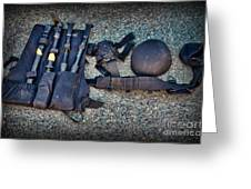 Law Enforcement -swat Gear - Entry Tools Greeting Card by Paul Ward