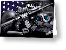 Law Enforcement Tactical Police Greeting Card by Gary Yost