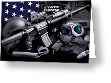 Law Enforcement Tactical Trooper Greeting Card by Gary Yost