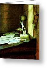 Lawyer - Desk With Quills And Papers Greeting Card by Susan Savad