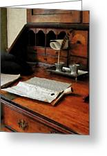 Lawyer - Quill Papers And Pipe Greeting Card