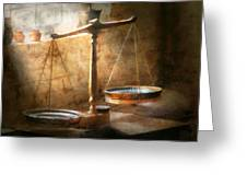 Lawyer - Scale - Balanced Law Greeting Card by Mike Savad